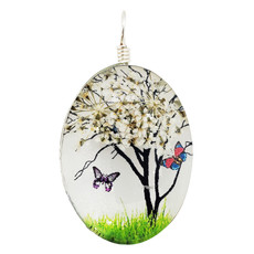 Small Dried Flower with Butterfly Pendant