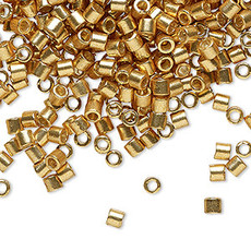 Miyuki Delica #8 Galvanized Gold A3286 7.5 gram vial