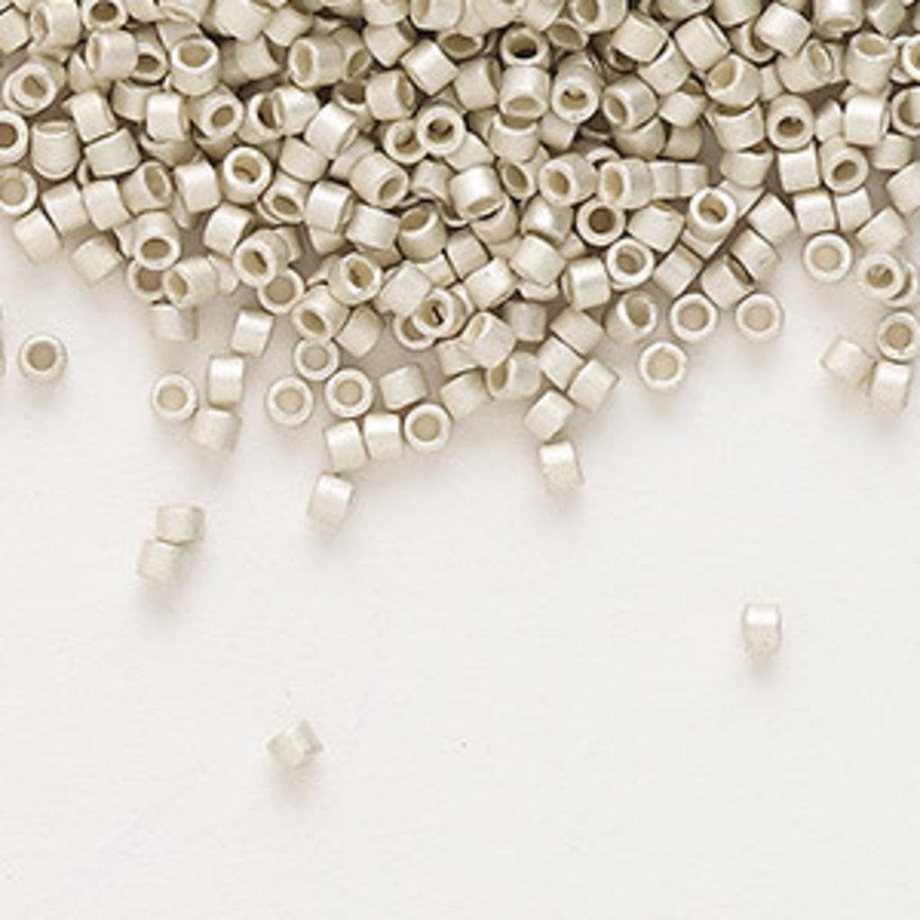Miyuki Delica #11 Opaque Semi-Matte Galvanized Silver Db1151 7.5 gram vial