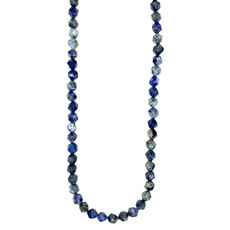 "Bead World Faceted Star Cut Lapis Lazuli 16"" Strand"