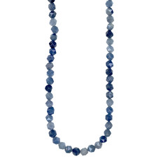 """Bead World Faceted Star Cut Blue Agate 16"""" Strand"""