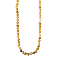 """Faceted Star Cut Yellow Carnelian 16"""" Strand"""