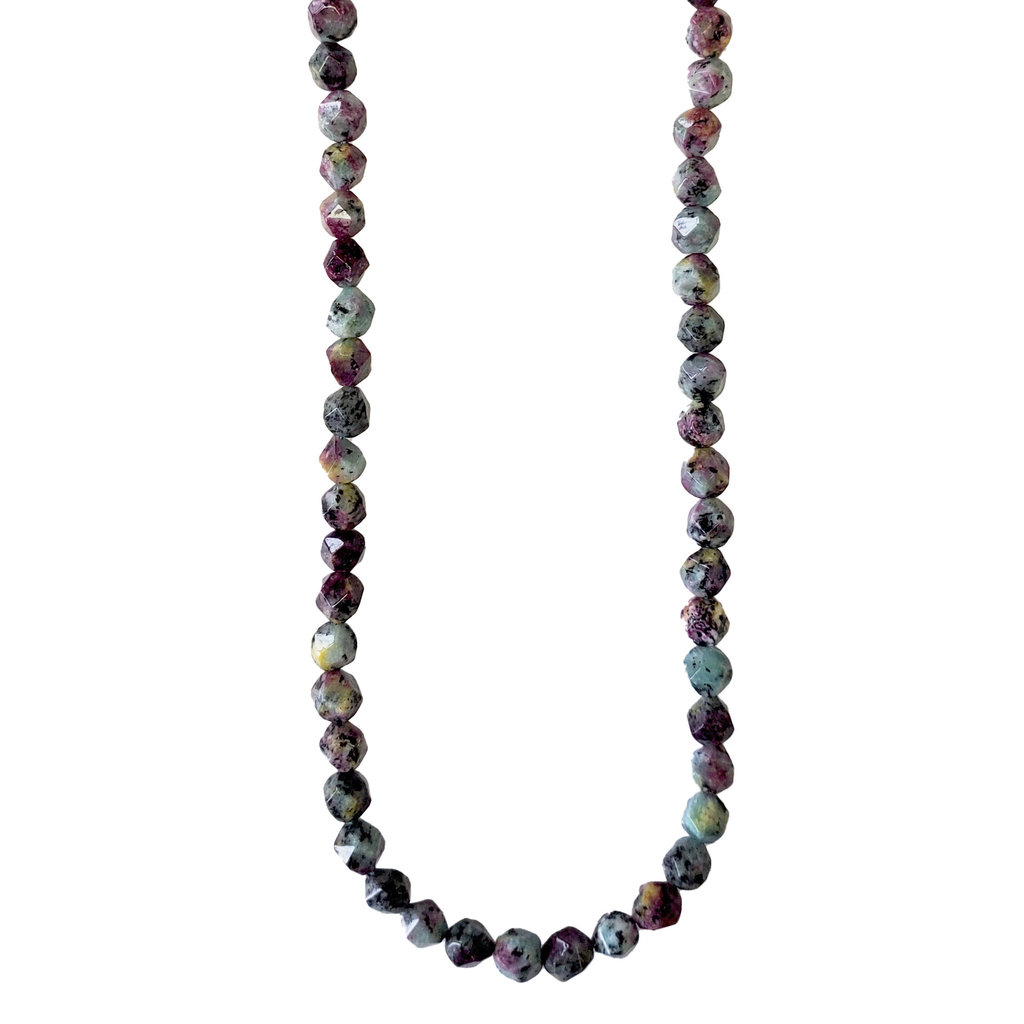 """Faceted Star Cut Zoisite 16"""" Strand"""