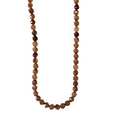 """Faceted Star Cut Brown Agate 16"""" Strand"""