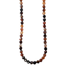 """Faceted Star Cut Mixed Red Agate 16"""" Strand"""