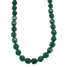 """Faceted Star Cut Emerald 16"""" Strand"""