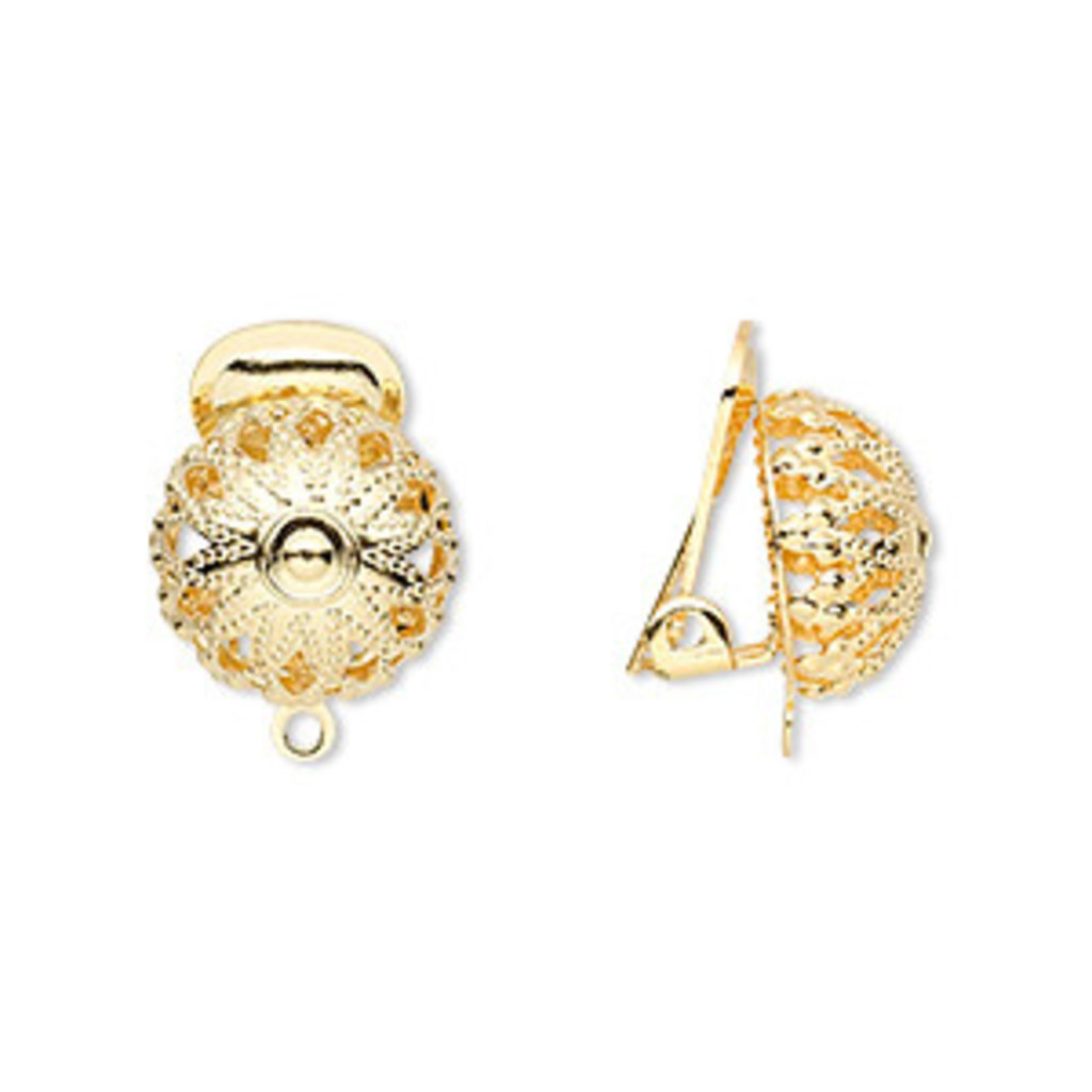 - Clip on Earring Dome 5prs.