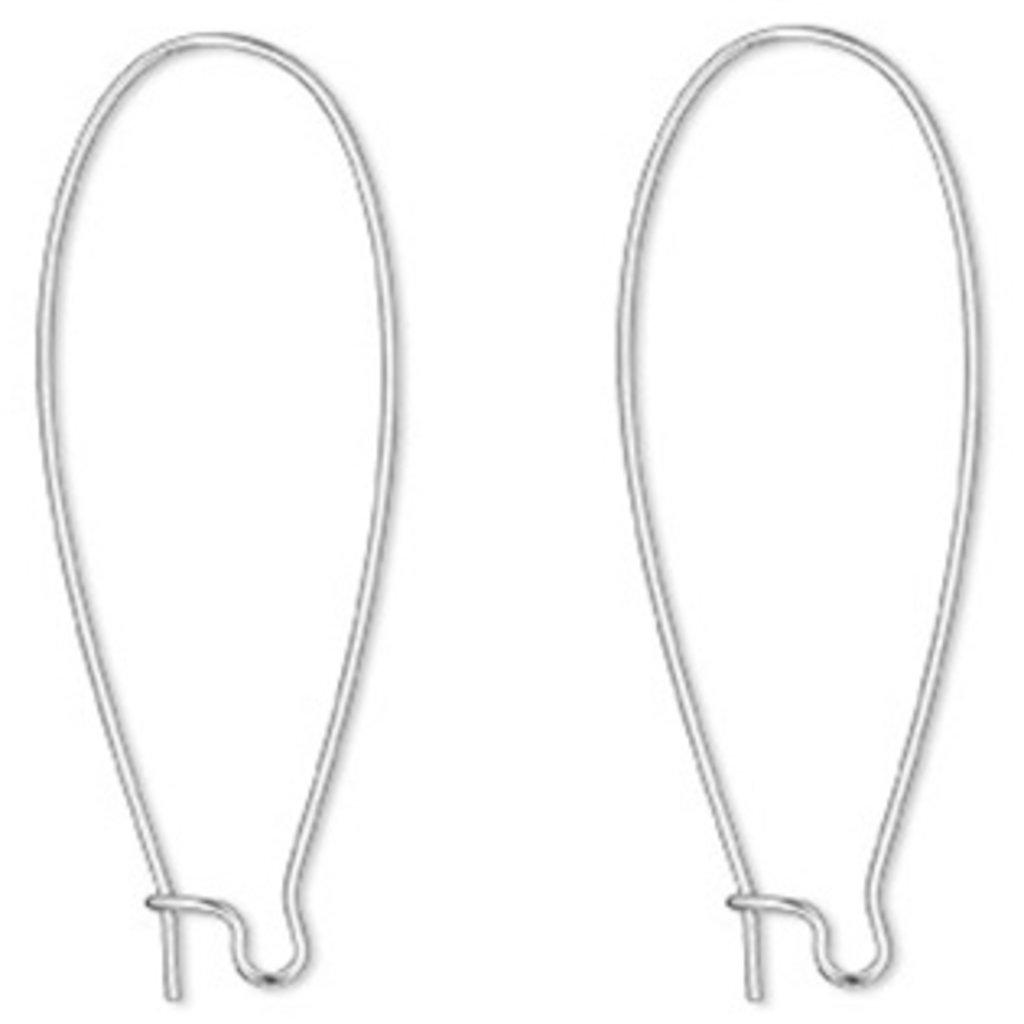Bead World Kidney Ear Wire