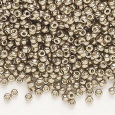 Miyuki #11 Rocaille Seed Bead Opaque Galvanized Pewter 25 Grams