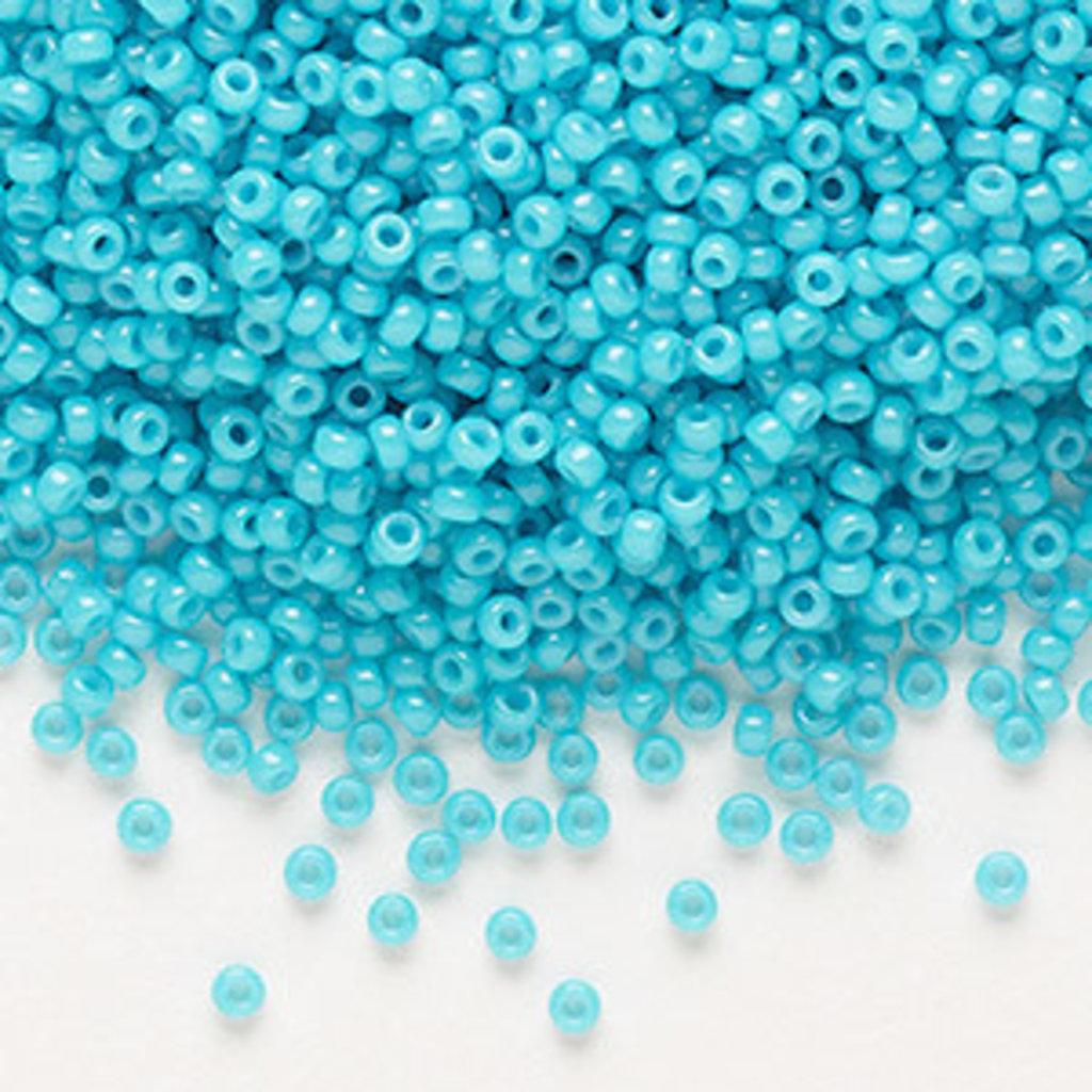 Miyuki #11 Rocaille Seed Bead Opaque Underwater Blue 25 Grams