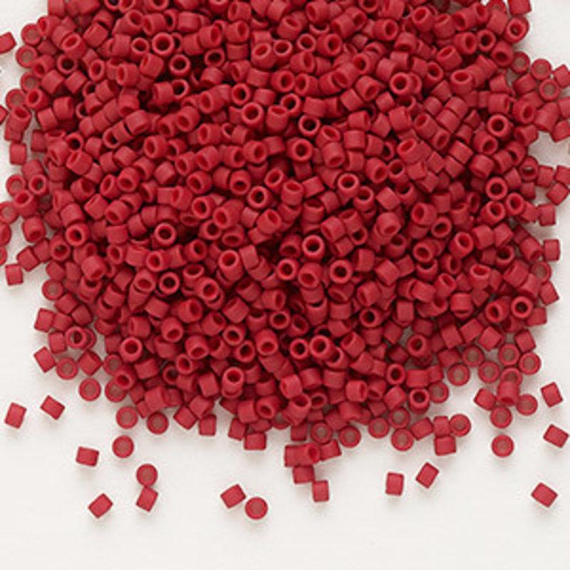 Miyuki Delica #11 Opaque Matte Dark Red DB0796 50 grams