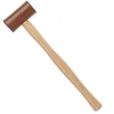 Rawhide and Wood Mallet