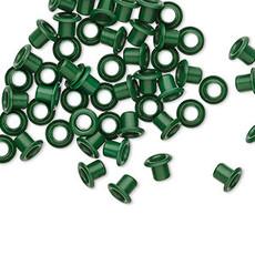 Green Brass Eyelets 5x4mm 50pcs