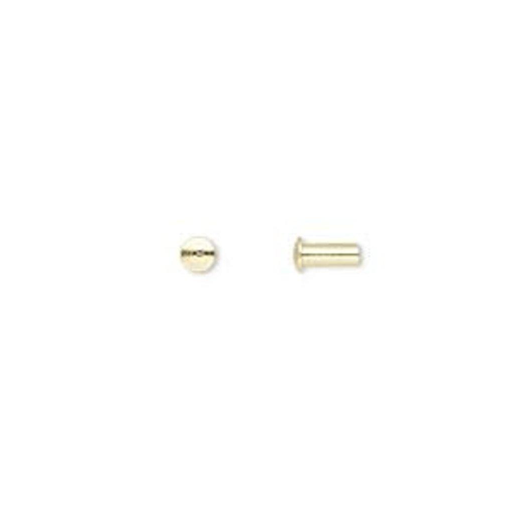 Brass Rivet 5.5x3mm 100pcs