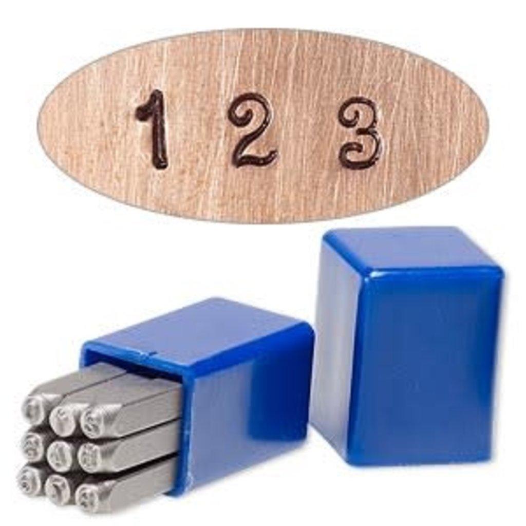 Steel Stamp Punch Fancy Number Set (0-8) 3mm