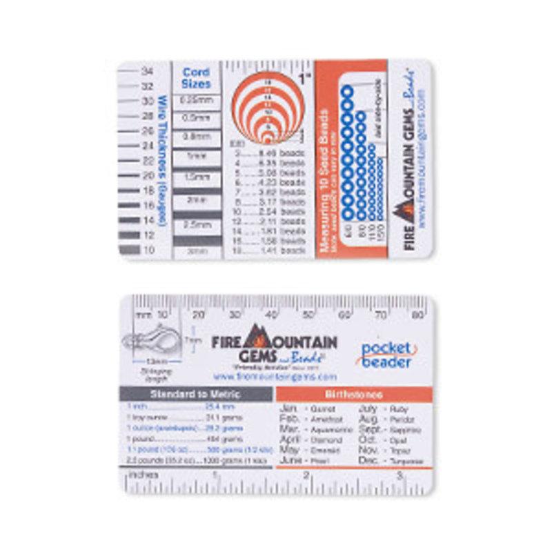 Pocket Beader Wallet Reference Card