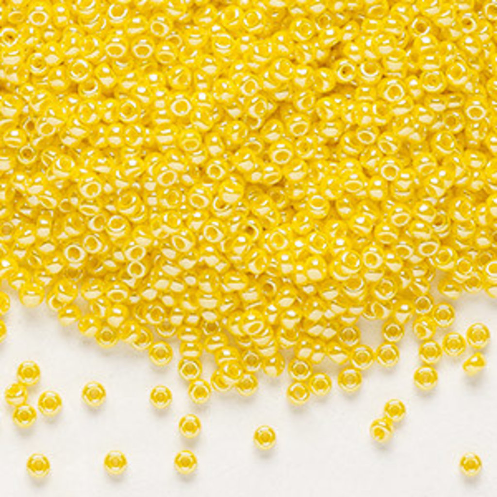 Miyuki #11 Rocaille Seed Bead Opaque Luster Canary 25 Grams