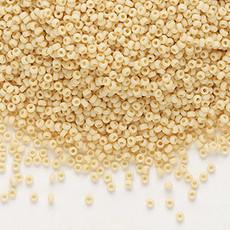 Miyuki #15 Rocaille Seed Bead Opaque Matte Pear 35 Grams