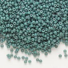 Miyuki #11 Rocaille Seed Bead Opaque Eucalyptus 25 Grams