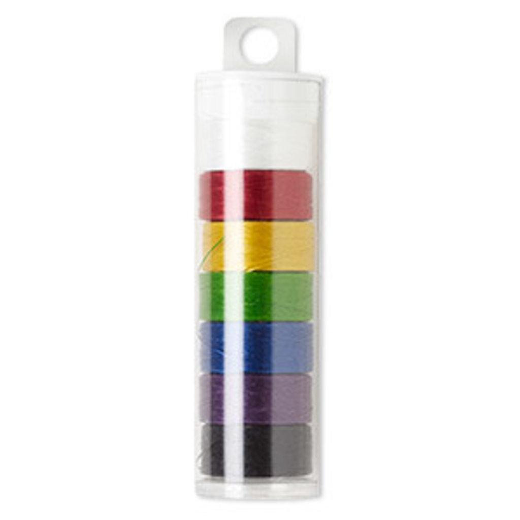 Nylon Thread C-Lon Nylon Mixed Color Thread #D (7)78yd