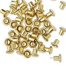 Brass Rivet 5.5x5mm 50pcs