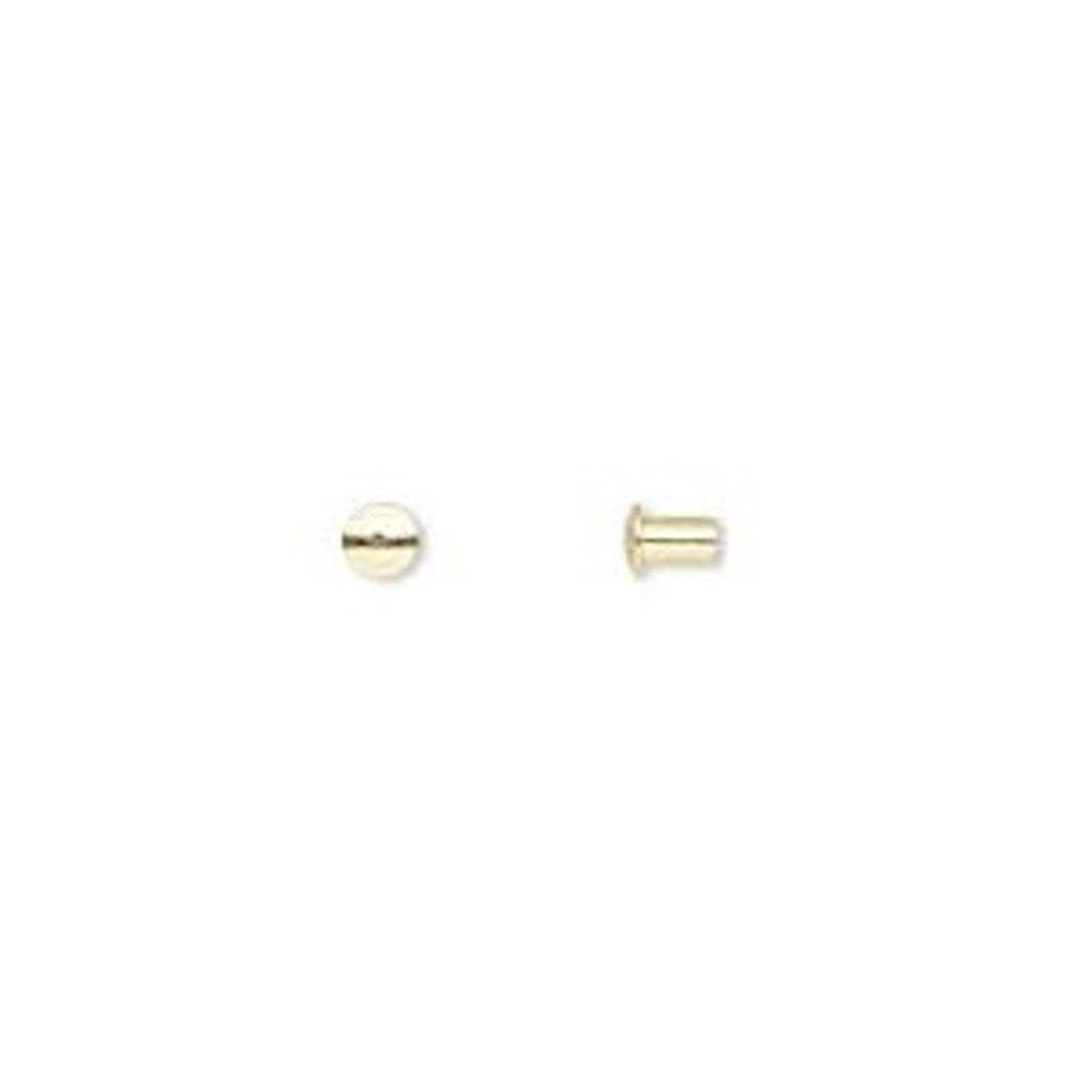 Brass Rivet 3.5x3mm 100pcs