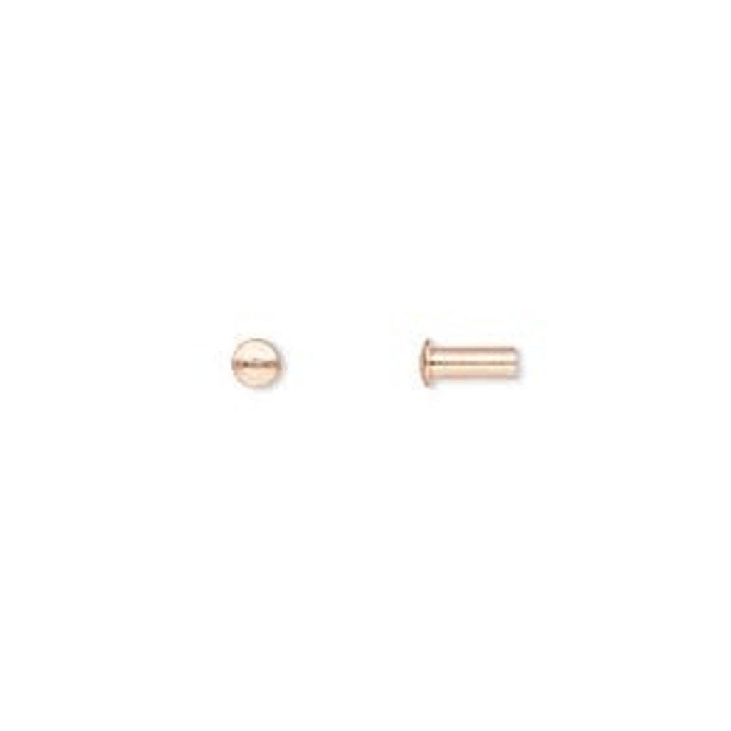 Copper Rivet 5.5x3mm 100pcs