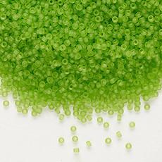 Miyuki #15 Rocaille Seed Bead Translucent Matte Lime 35 Grams