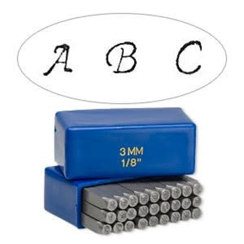 """Steel Stamp Alphabet Letters A-Z and """"&"""" Symbol"""