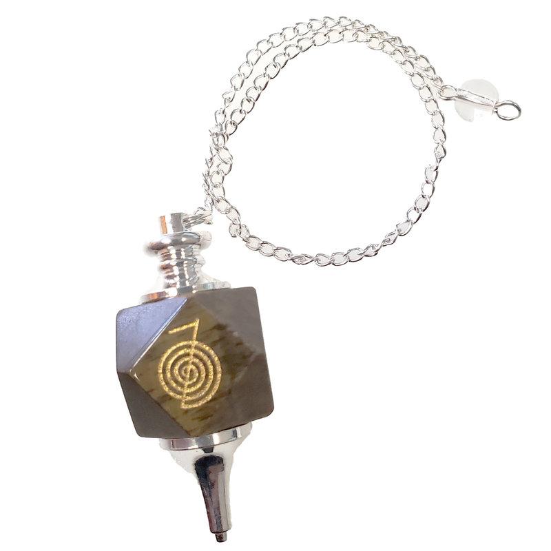 Tiger Eye Pendulum with Chain