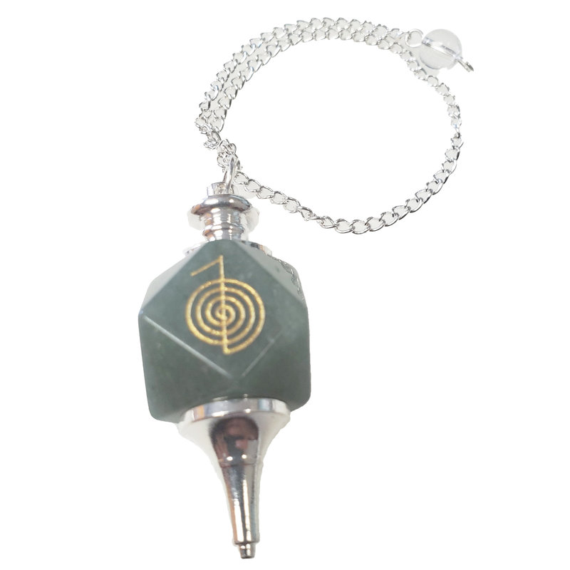 Green Aventurine Pendulum with Chain