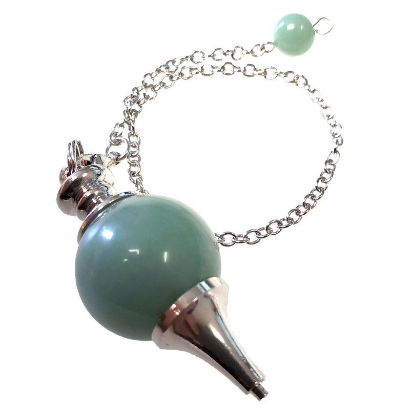Jade Round Pendulum with Chain 20mm