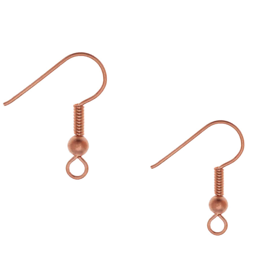 Bead World Fish Hook W/ 2mm Ball & Coil