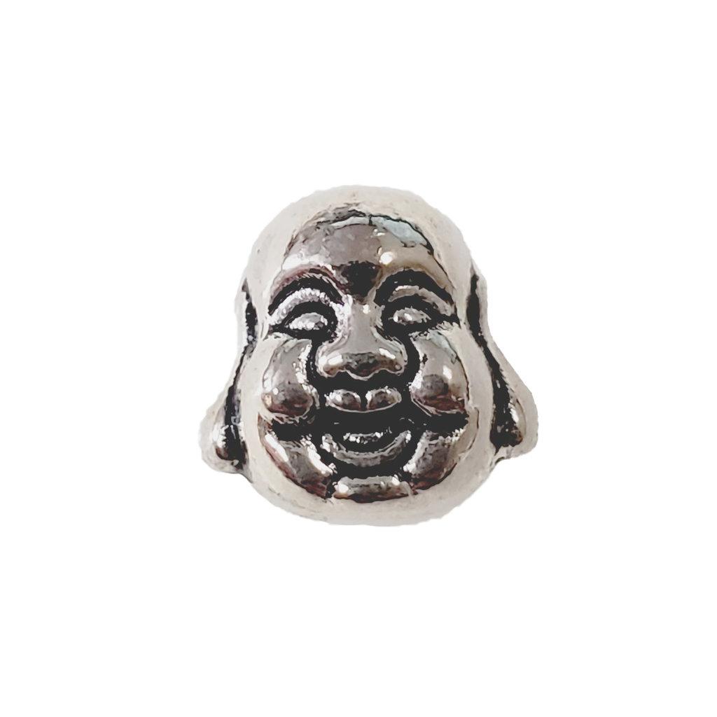 Laughing Buddha Head Charm 10mm
