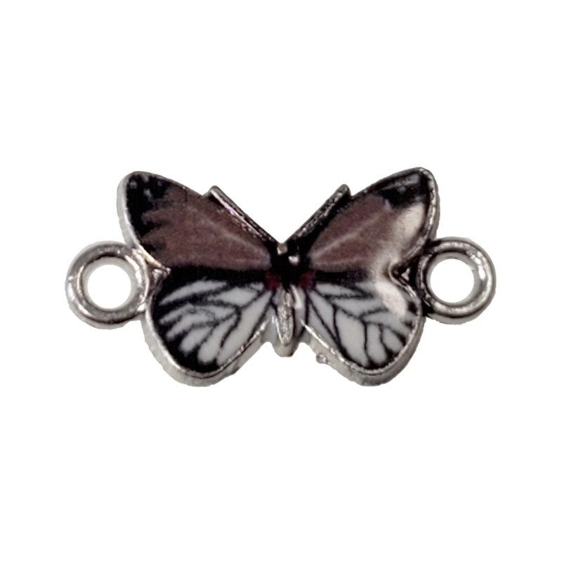Butterfly Enamel  Charm 16x13mm