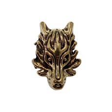 Gold Dragon Head Charm 14x20mm