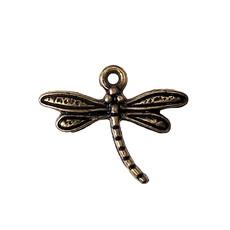 Gold Dragonfly Charm 18x15mm