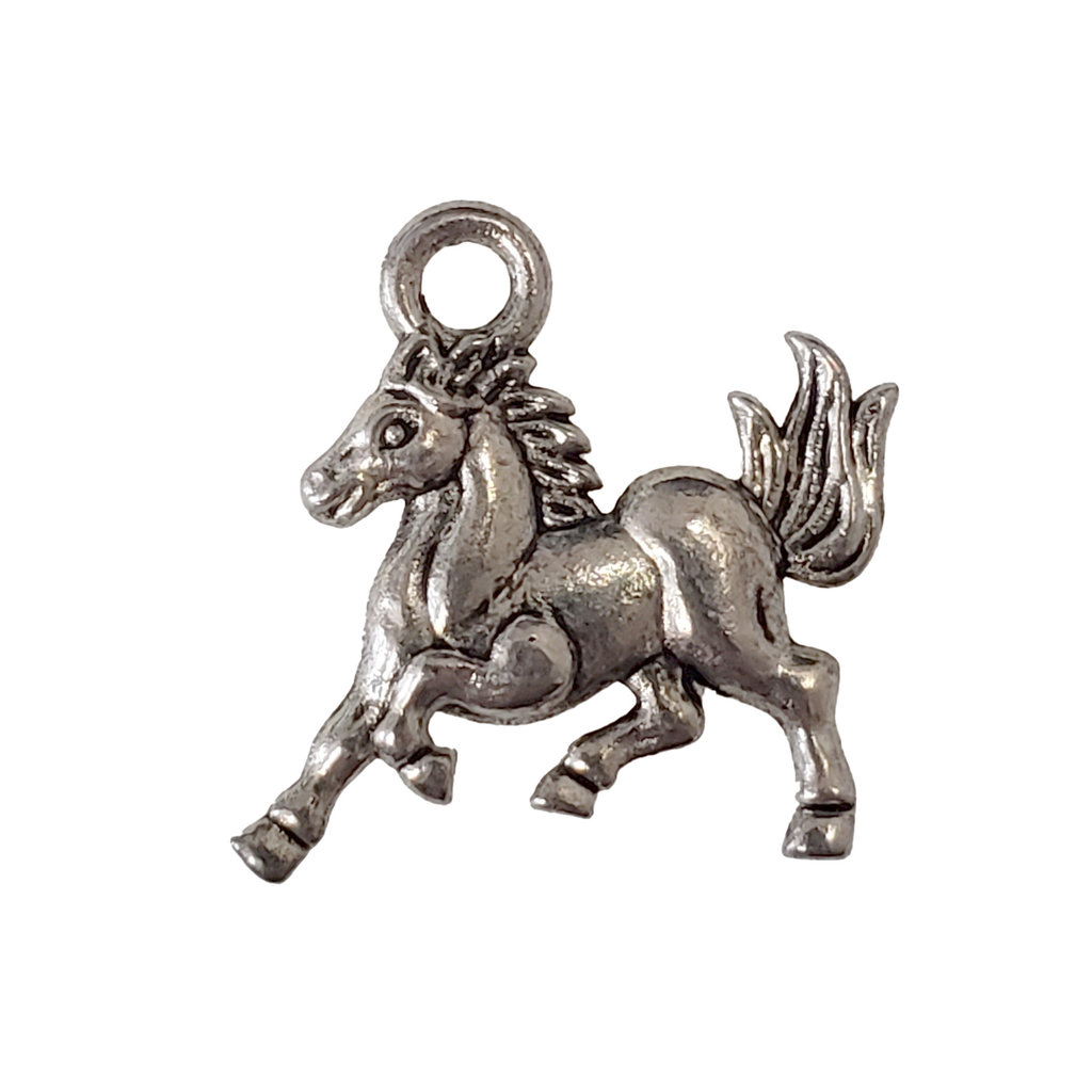 Galloping Horse Charm 14x15mm