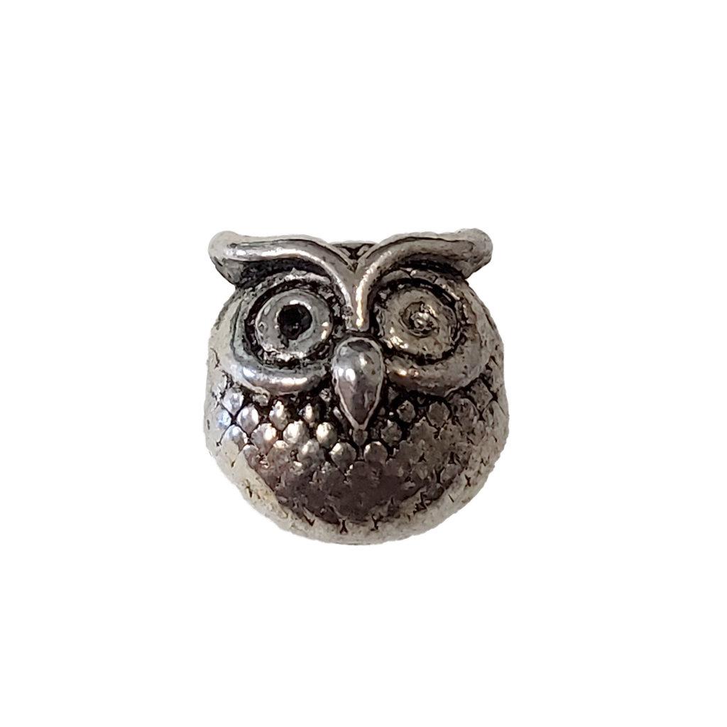 Round Owl Charm 10mm