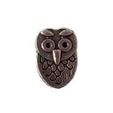 Flat Owl Charm 7x10mm