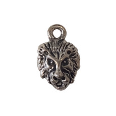 Lion Head with Loop Charm 10x17mm