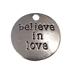Round Believe in You Word Charm 19mm