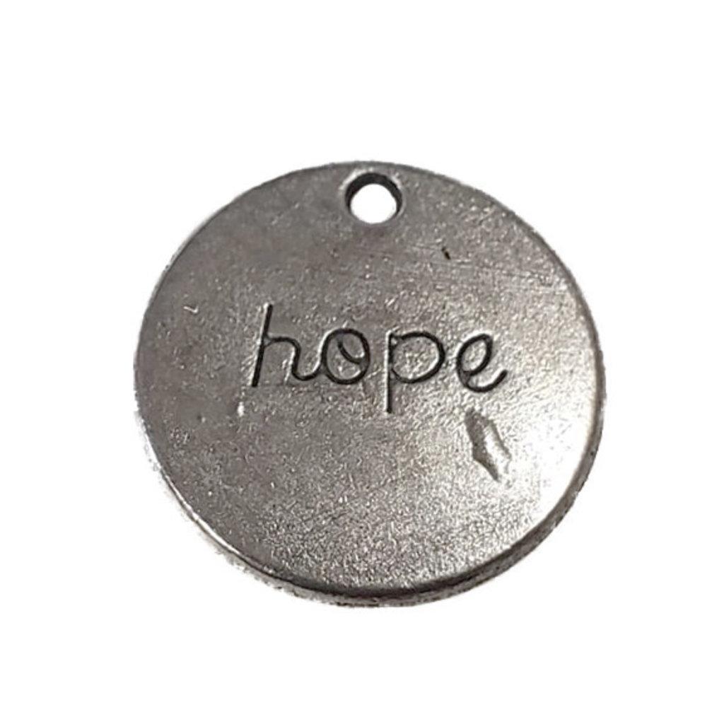 Round Hope Word Pendant 19mm