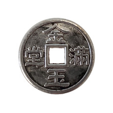 Chinese Coin Charm 15mm