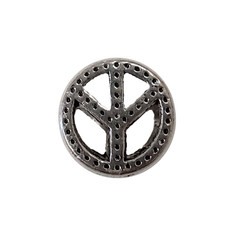 Peace Sign Charm 10mm