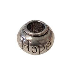 Large Hole Hope Charm 11x9mm