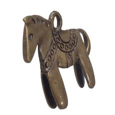 Gold Saddled Up Horse Charm 26x23mm