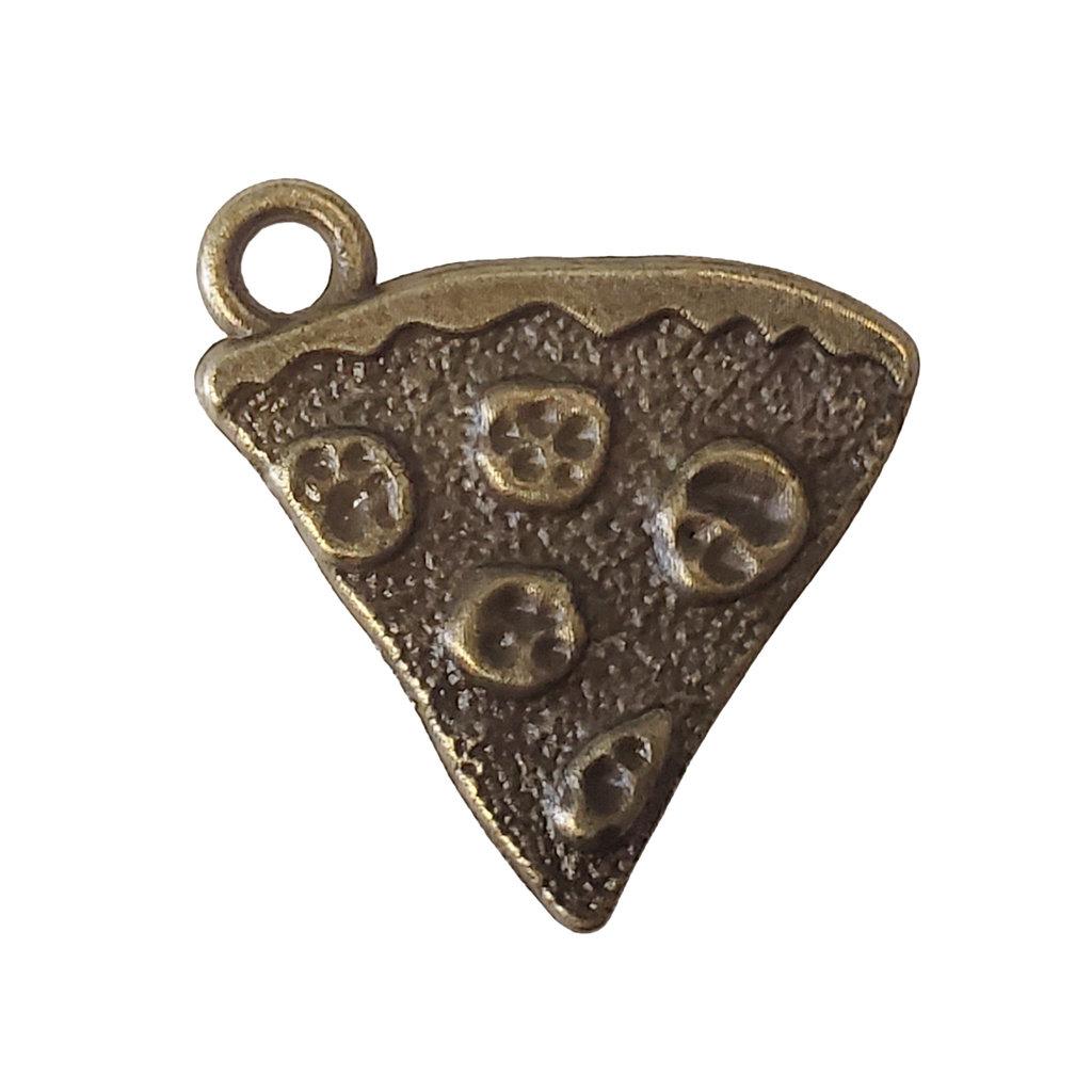 Gold Pizza Slice Charm 18x18mm