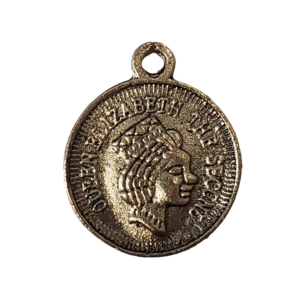 Gold Coin Charm 17mm