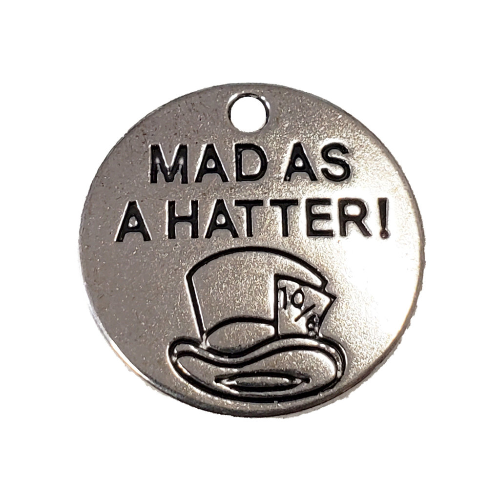 Round Mad as a hatter! Charm 20mm